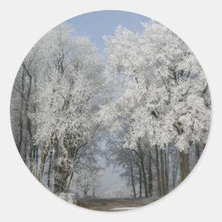 White Christmas Stickers