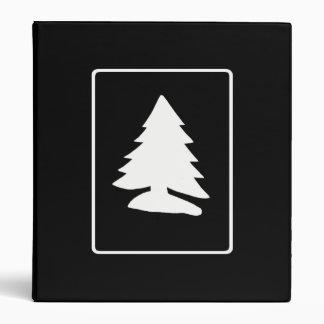White Christmas Tree Avery Binder