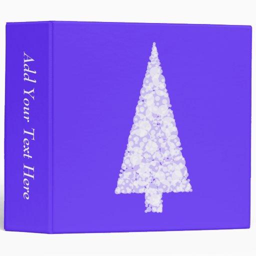 White Christmas Tree. On Blue - Purple. Binders