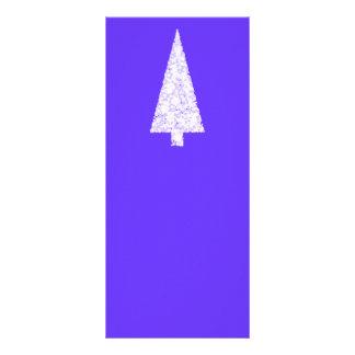White Christmas Tree On Blue - Purple Customized Rack Card