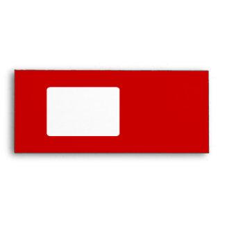 White Christmas Tree. On Red. Modern. Envelope