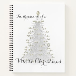 White Christmas Tree Personal Journal Diary