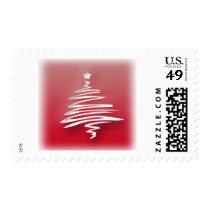 White Christmas Tree Postage