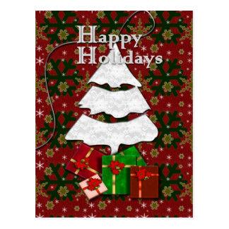 White Christmas Tree Postcards