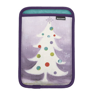 White Christmas Tree Sleeve For iPad Mini