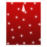 White Christmas Tree with Stars on Red. Flyer