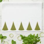 White Christmas Trees Holiday Kitchen Towel