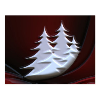 White Christmas trees Post Cards