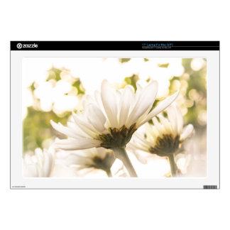 White Chrysanthemum Glory Decal For Laptop