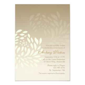 White Chrysanthemum Invitation