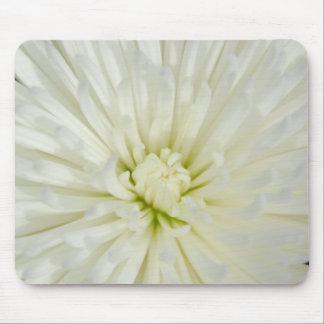 White Chrysanthemum Mouse Pad