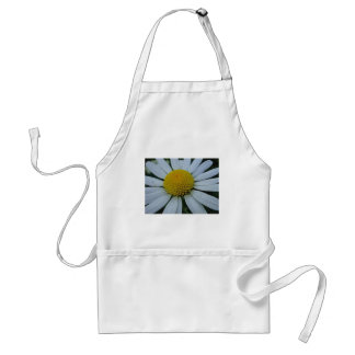 White chrysanthemum with yellow centre adult apron