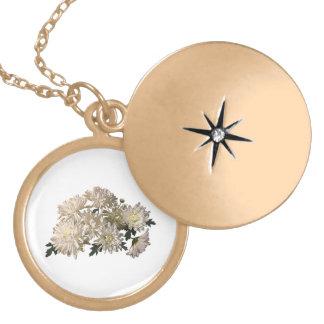 White Chrysanthemums Custom Jewelry
