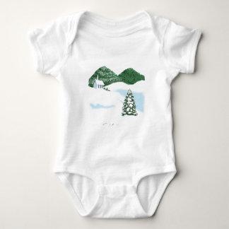White Church Baby Bodysuit