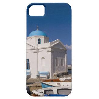 White church on the beach near the Aegean Sea on iPhone SE/5/5s Case