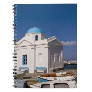 White church on the beach near the Aegean Sea on Notebook