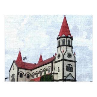 White Church Postcard