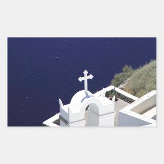 White Church Rectangular Sticker