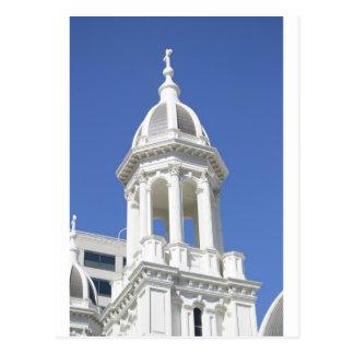 White Church tower, Downtown San Jose California Postcard