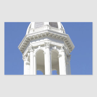 White Church tower Downtown San Jose California Rectangular Stickers