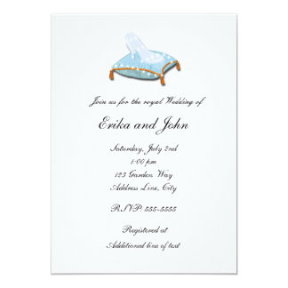 White Cinderella Glass Slipper Wedding Invitation
