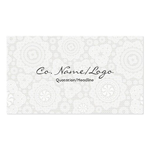 White Circle And Stars Elegant Pattern Business Card