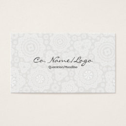 Black and white stars design business cards templates zazzle white circle and stars elegant pattern business card reheart Choice Image