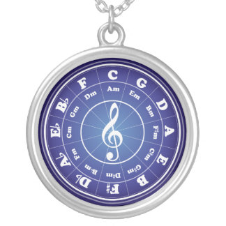 White Circle of Fifths Personalized Necklace