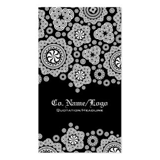 White Circle Pattern Double-Sided Standard Business Cards (Pack Of 100)
