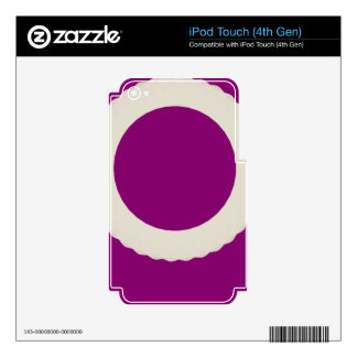 white circle with purple background iPod touch 4G decal