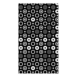 White circles and dots Double-Sided standard business cards (Pack of 100)