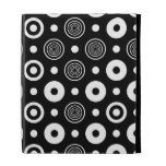 White circles and dots iPad cases