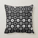 White circles and dots throw pillow
