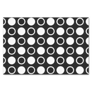 White Circles and Polka Dots Tissue Paper
