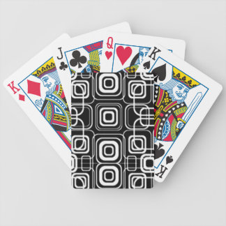 White Circles and Squares on Black Products Bicycle Playing Cards
