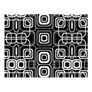 White Circles and Squares on Black Products Postcard