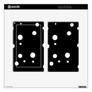 White circles kindle fire decals