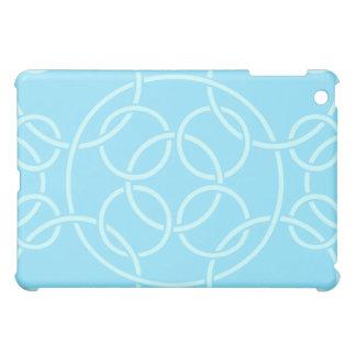 White Circles on Aqua  Cover For The iPad Mini