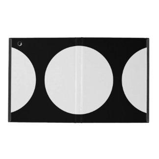 White Circles on Black iPad Covers
