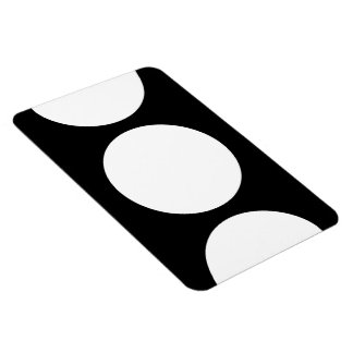 White Circles on Black Magnet