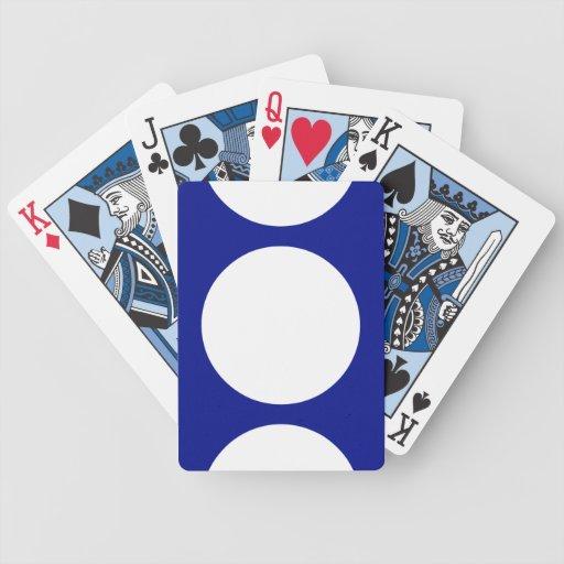 White Circles on Blue Card Deck