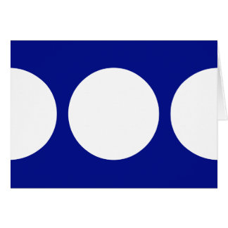 White Circles on Blue Greeting Card