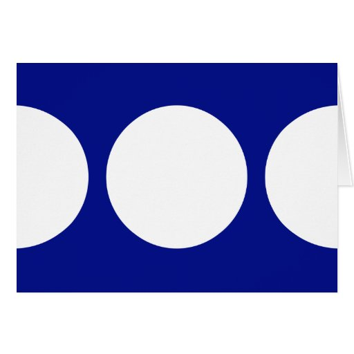 White Circles on Blue Greeting Card