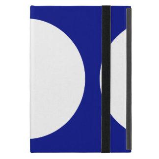 White Circles on Blue iPad Mini Cover