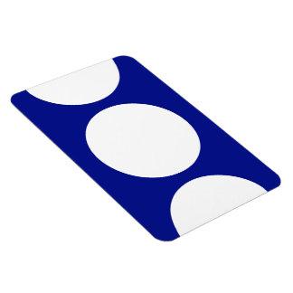 White Circles on Blue Magnet