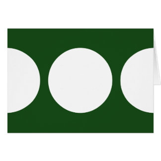 White Circles on Green Greeting Card