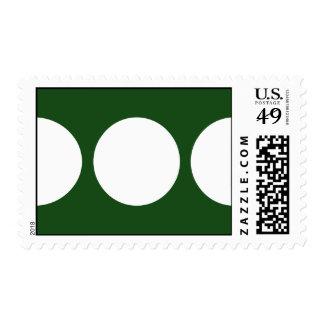 White Circles on Green – Medium Stamp