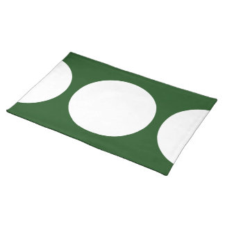White Circles on Green Placemat