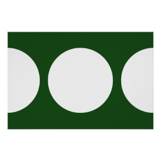 White Circles on Green Poster