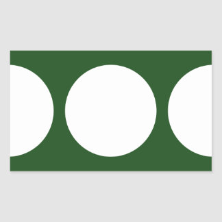 White Circles on Green Rectangle Stickers